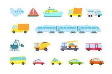 Set of transport cargo delivery.
