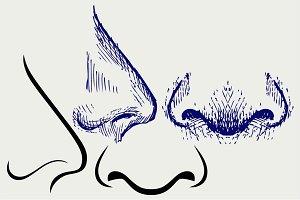 Human nose SVG