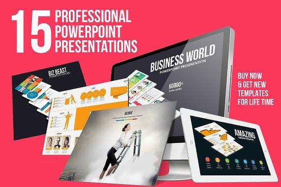 the professional presentation bundle presentation templates