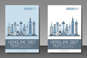 Modern City Buildings, size A4