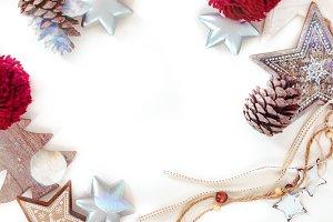 Rustic christmas background III