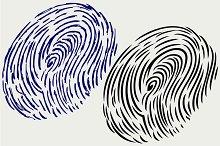 Imprint of a human finger