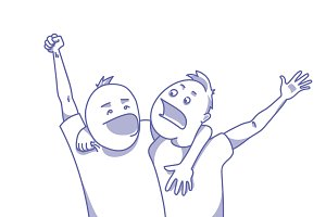 Sport fans celebrating victory