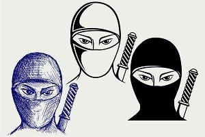Ninja assassin SVG