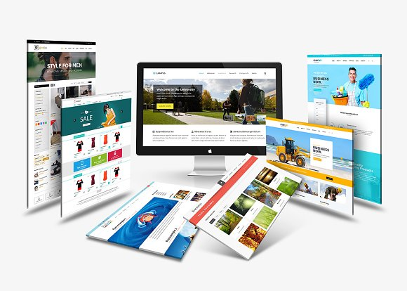 Download Desktop Display Mock-Up 01