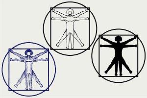 Vitruvian man SVG