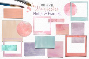 Watercolor Notes and Frames