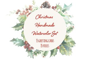 Christmas Watercolor Set