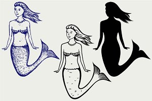 Cute mermaid SVG