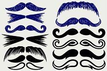 Set mustache human