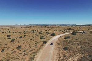 Desert Car Tracking Shot