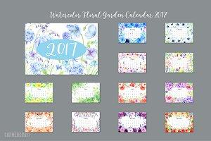 2017 Calendar Floral Garden