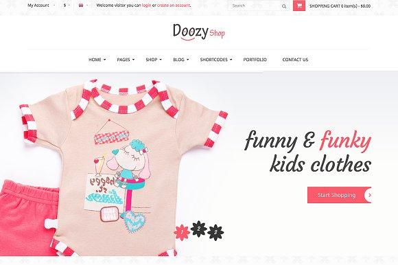 Doozy Ecommerce Children Template