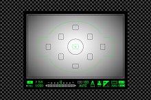 Vector digital DSLR viewfinder