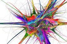 Colorful watercolor explosion abstract background