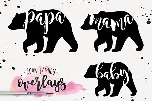 Bear Family Overlay PNG