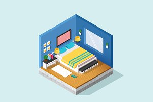 Isometric Illustration - Room