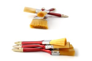 Paint-brush on a white background