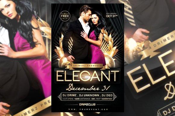 elegant flyer flyer templates creative market