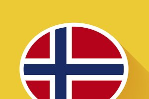 Speech bubble with Norway flag