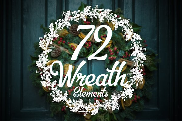 Christmas Wreaths Collection of 72