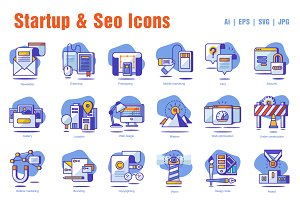 Startup & Seo Icons