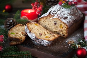 Stollen - traditional Christmas cake
