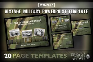 Vintage Military Powerpoint Template