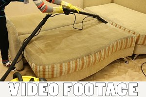 Service cleaning dirty sofa