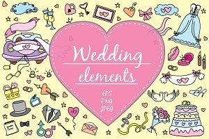 Big set- Wedding elements