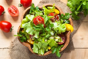 Fresh vegetable salad