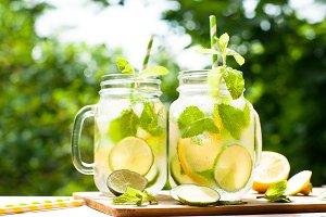 Summer drink lemonade mojito
