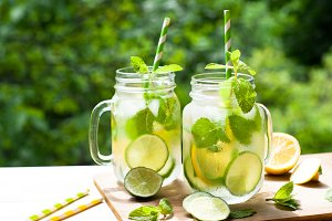 Summer drink lemonade mojito