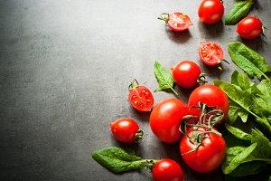 Organic fresh vegetables.