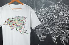 Eurasia Travel Map.