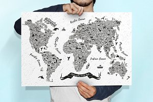 Typography World Map.