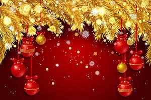New Year background. Red