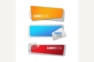 Realistic abstract banner design