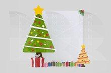 3d illustration. Xmas Tree Banner