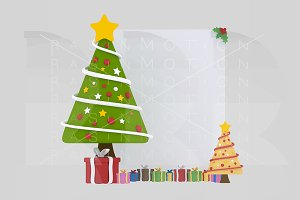 3d illustration. Xmas Tree Banner