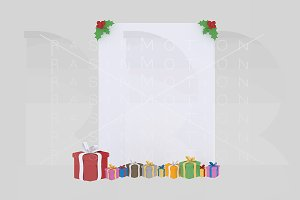 3d illustration. Xmas banner.