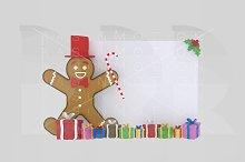 3d illustration. Cookie Banner.