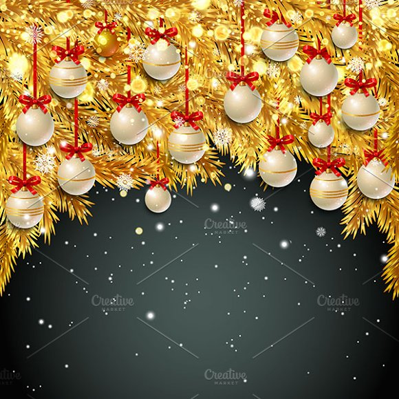 New Year background. Black - Illustrations