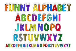 Fun children's alphabet. Set.
