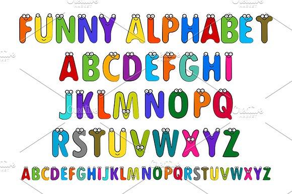 Fun children's alphabet. Set.
