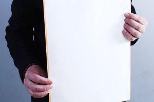 Man takes placard