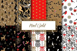 Noel Gold seamless paper