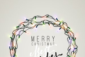 Xmas Holiday Greeting Cards Design