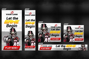 Sports Banner Set (17 sizes)
