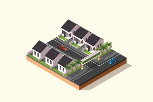 Isometric Illustration - Village